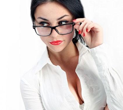 Secretaresse vrouw sexy bril nieuws